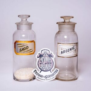 Sago and Arsenic Bottles