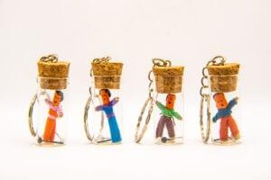 Portable Emergency Voodoo Doll Kit Key Chain