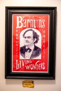 Framed Barnum's Living Wonders Poster