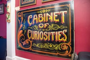 Hand Painted Sign Cabinet of Curiosities