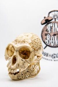 Carved Monkey Skull