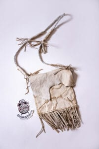 White Vintage Recycled Leather Bag