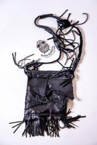 Black Vintage Recycled Leather Bag