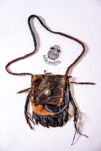 Brown Vintage Recycled Leather Bag