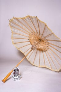 Ivory Scalloped Paper Parasol