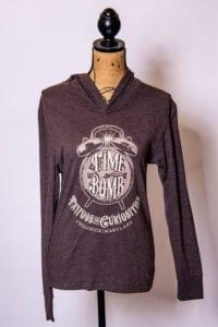 Macchiato Long Sleeve Hooded Time Bomb T-Shirt