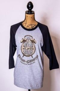 Gray Time Bomb Baseball T-Shirt