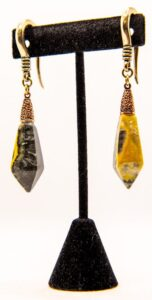 8g Bumblebee Jasper – White Brass & Copper Hangers