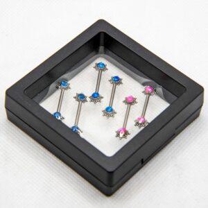 14g 5/8″ Titanium Nipple Barbells