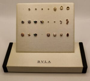 BVLA 14k Gemmed Pin Tops