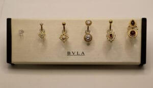 BVLA 14k & 18k Yellow Gold Navel Barbells