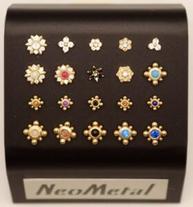 Neometal 14K Yellow Gold Bali and Floral Tops