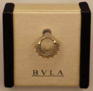 BVLA 14k Yellow Gold 16g 5/16″ Afghan Clicker w/ Antique Finish